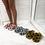 Thumbnail: Ari- Grey and Black Fluffy Printed Slipper Sliders