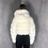 Thumbnail: Nella - White Faux Fur Ribbed Hooded Zip Up Cropped Jacket