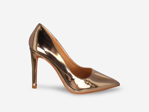 Alexandra – Rose Gold Metallic Court Heel