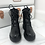 Thumbnail: Donna - Black Lace Up Chunky Sole Boots