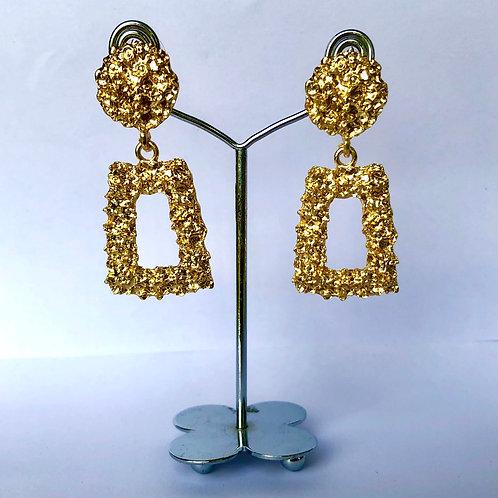 Small Frame Gold Earrings