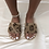 Thumbnail: Libby - Brown Printed Slippers