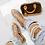 Thumbnail: Elouise - Rose Gold Silver Ball Slider Sandals