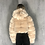 Thumbnail: Nella - Mocha Faux Fur Ribbed Hooded Zip Up Cropped Jacket