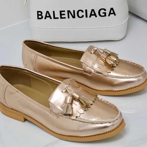 Ava - Rose Gold Tassle Loafer