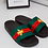 Thumbnail: Brooke - Red and Green Stripe Bee Slider Sandal