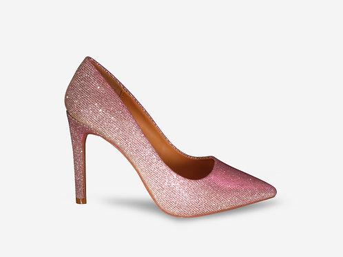 Stella – Pink/ Silver Two-tone Court Heel