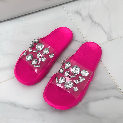 North - Pink Perspex Jewel Slider