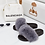 Thumbnail: Celine - Grey Faux Fur Fluffy Sliders