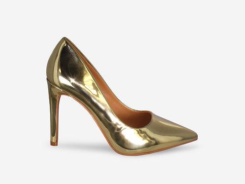 Alexandra – Gold Metallic Court Heel