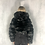 Thumbnail: Nella - Black Faux Fur Ribbed Hooded Zip Up Cropped Jacket
