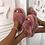 Thumbnail: Bear - Pink Fluffy Crisscross Slip On Slider Slippers