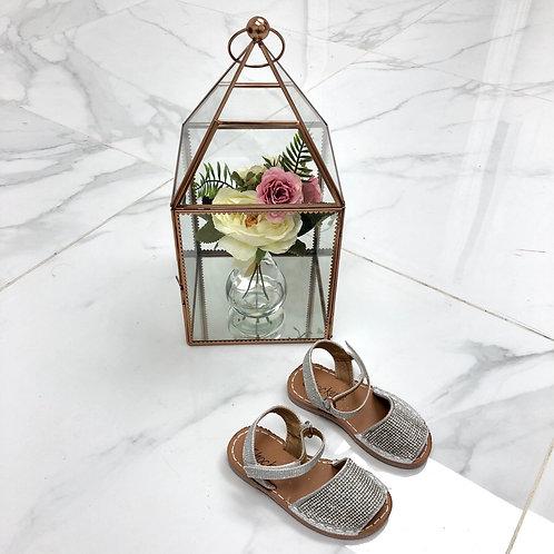 Baby Aariya -  Silver Diamanté  Strap On Sandal