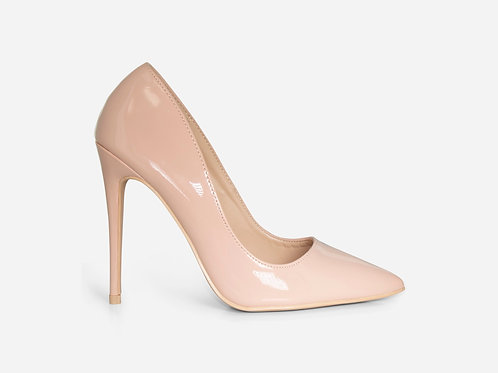 Zoe - Nude Patent Stiletto Court Heel