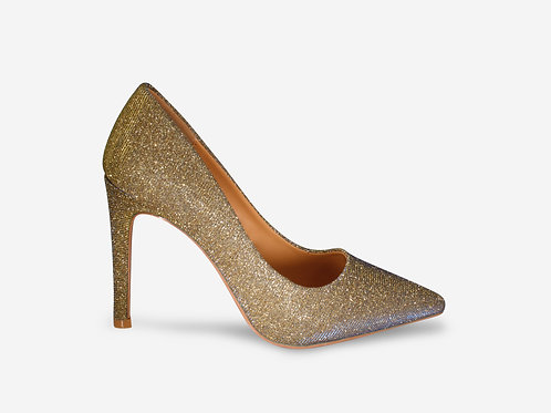 Stella - Gold/ Blue Two-tone Court Heel