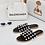 Thumbnail: Elouise - Black Silver Ball Slider Sandals