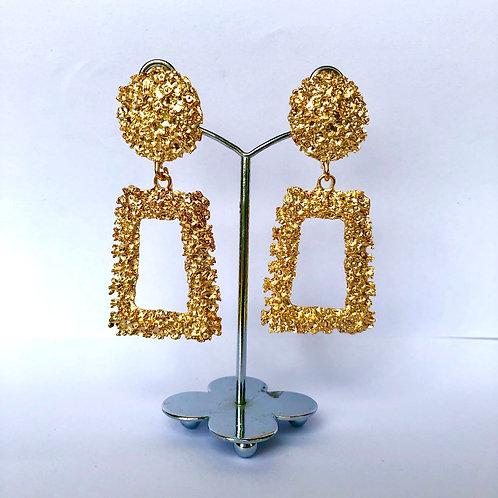 Large Frame Gold Earrings