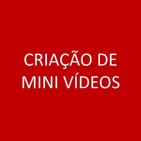 CRIAÇÃO DE MINI VIDEO