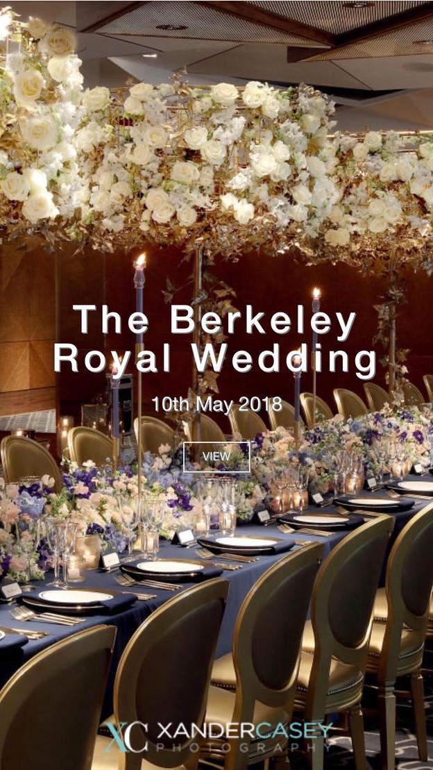 The Royal Wedding at The Berkeley