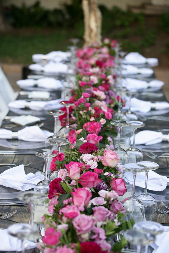 Pink and red weddings flowers