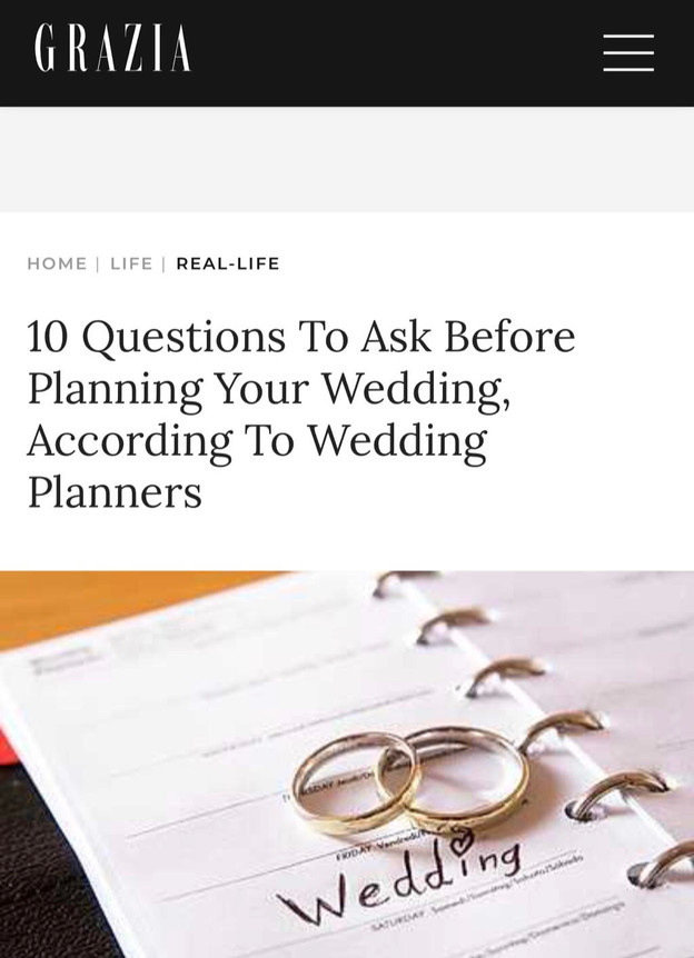 10 Questions To Ask Before Planning Your Wedding, According To Wedding Planners