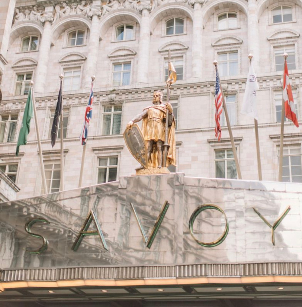 Savoy, 5-star luxury hotel in London, the Strand