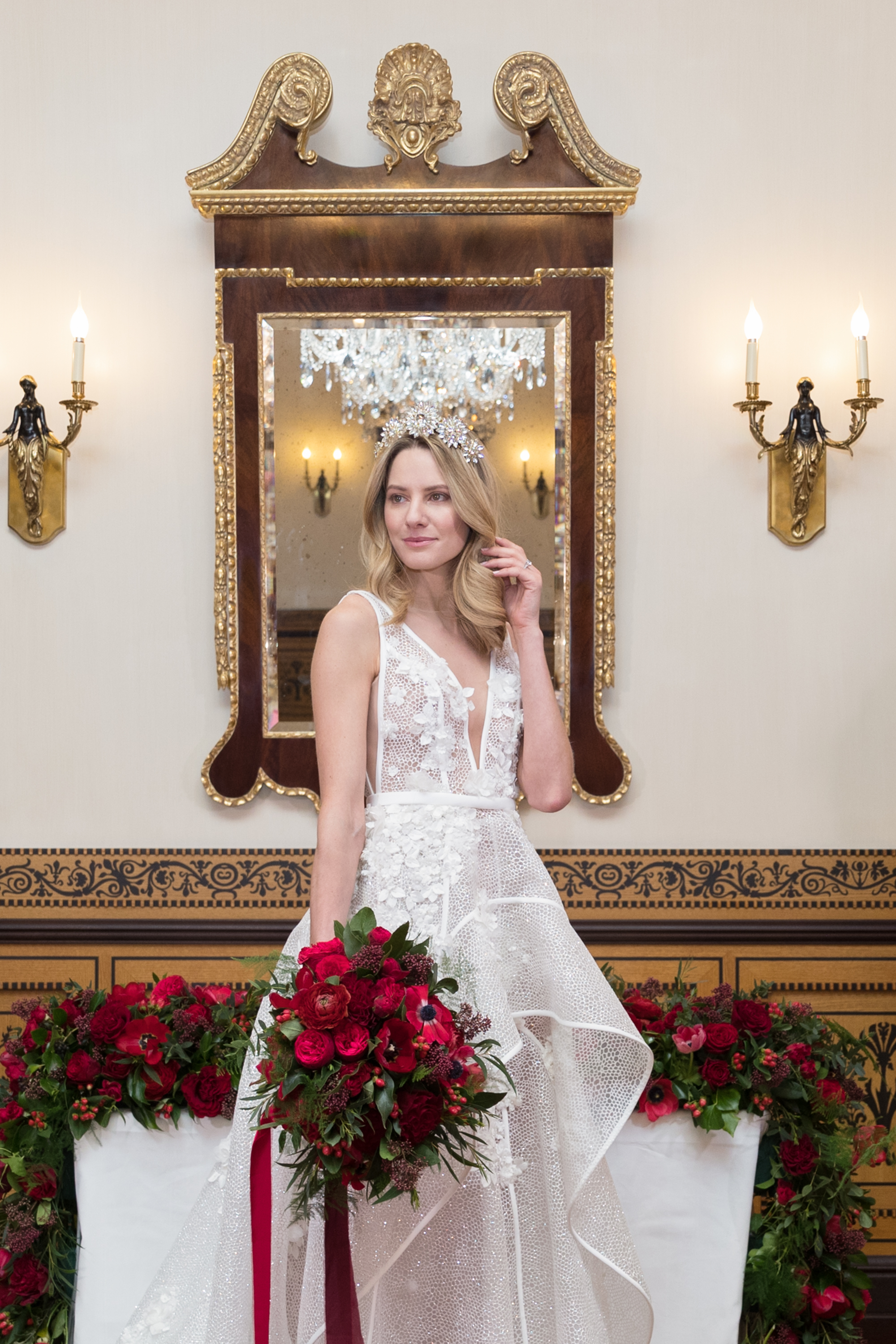 Elegant bride at The Lanesborough Hotel