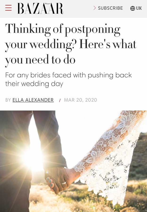 Should I postpone my wedding?