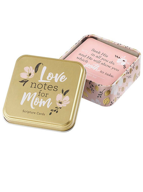 Tin love notes (scripture) for mom
