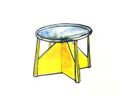 sketch for tea table, 2015