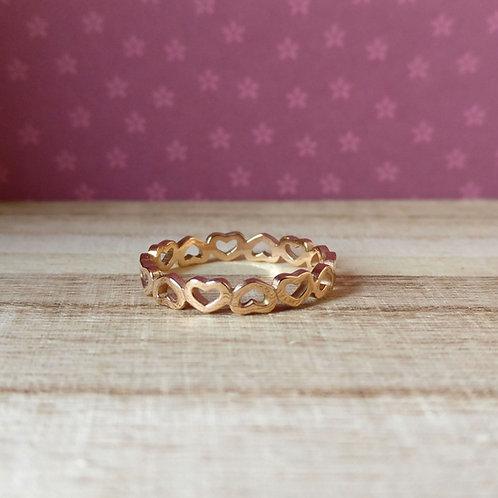 Qudo ring Pienza rosé goud