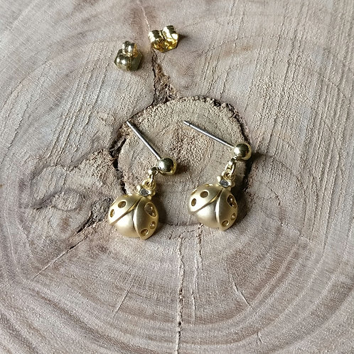Oorbel goud pimpampoentje