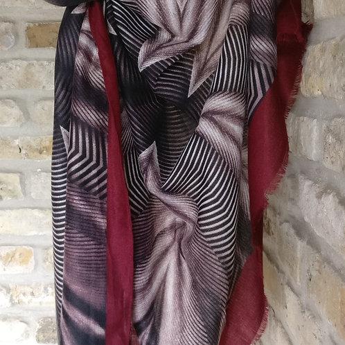 Sjaal bordeaux