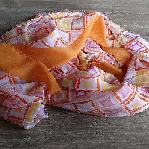 Sjaal ruiten oranje
