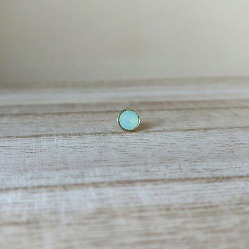 Qudo top bottone G chrysolite opal