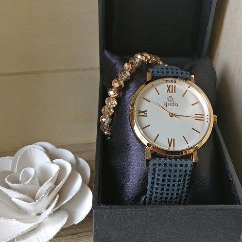 Qudo uurwerk Roma rosé goud.