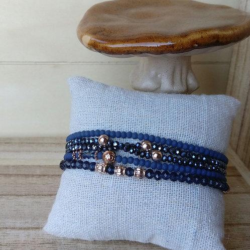 Armbandjes blauw in set