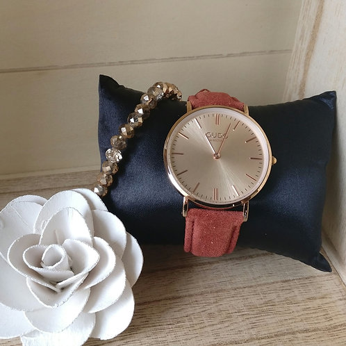 Qudo uurwerk Eterni rosé goud.