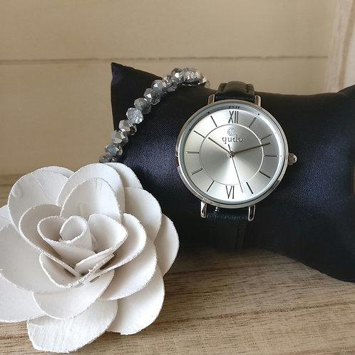 Qudo uurwerk Meleta zilver.