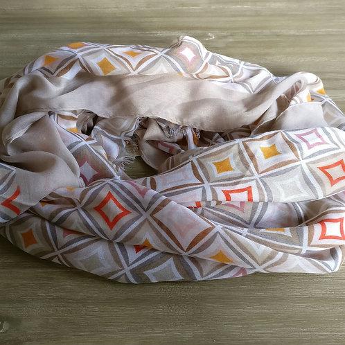 Sjaal ruiten beige