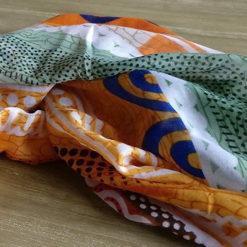 Sjaal kleurenmix oker/oranje/khaki