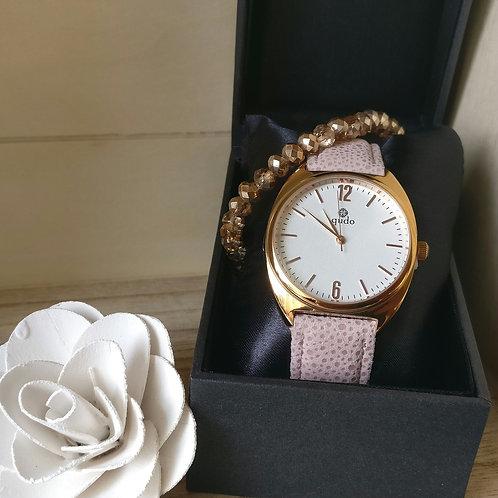 Qudo uurwerk Triora rosé goud.