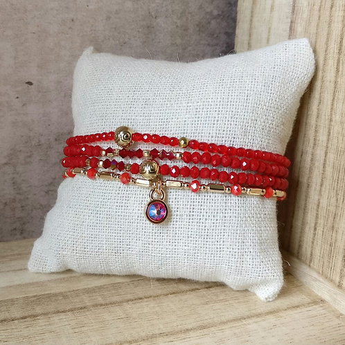 Armbandjes rood in set