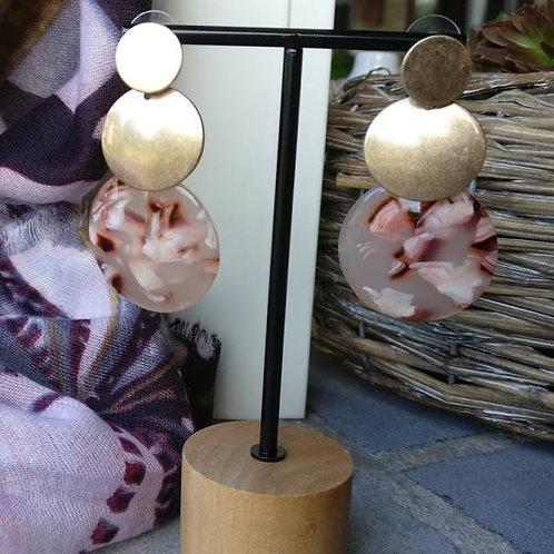 Oorbel nude roestbruin