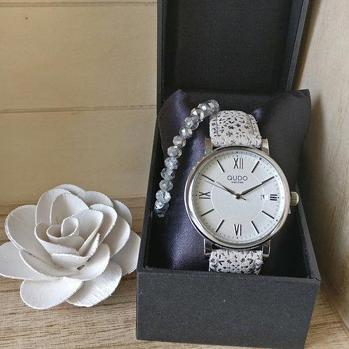 Qudo uurwerk Varese zilver.