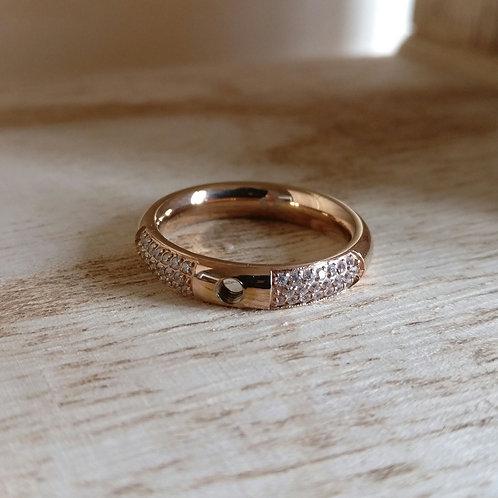 Qudo ring smal deluxe rosé goud