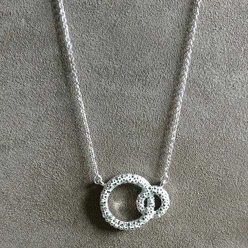 Ketting cirkel Phantasya zilver