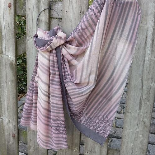 Sjaal oudroze/grijs