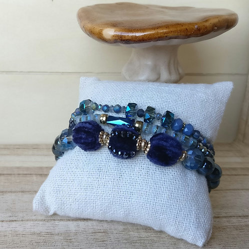 Armbanden donkerblauw in set