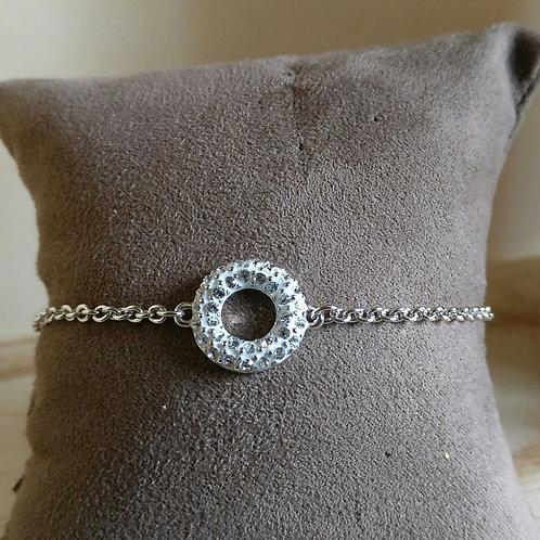 Armband donut Phantasya zilver
